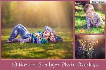 Sunlight photoshop overlays, Sun Lens Flare, Sunlight Rays