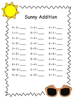 Sunny Addition Practice
