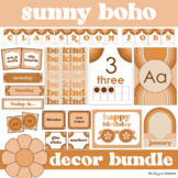 Sunny Boho Classroom Decor Bundle