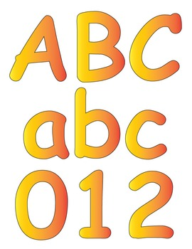 Sunny Bulletin/ display letters and numbers (Printable)