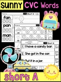 Sunny CVC Words Worksheets - PHONICS Short A - Skills and Activities