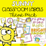 Sunny Classroom Theme Pack - Editable Name Tags, Labels and Posters