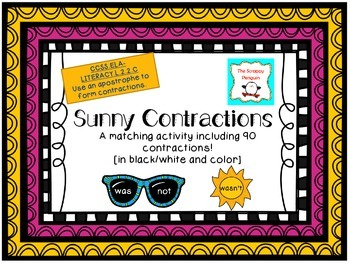 Sunny Contractions: A Matching Activity [Common Core L.2.2.C]