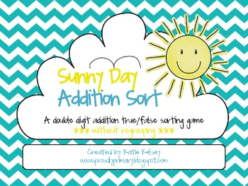 Sunny Day Addition Sort