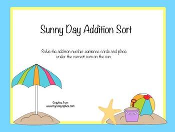 Sunny Day Addition Sort