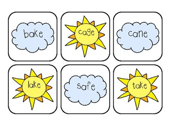 Sunny Day Long A Word Cards