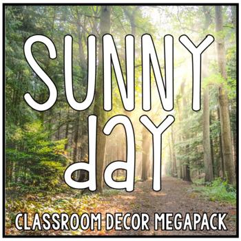 Sunny Day Red Blue Orange Yellow Classroom Decor Bundle - HUGE!
