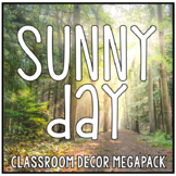 Sunny Day Red Blue Orange Yellow Classroom Decor - HUGE!
