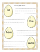 Sunny Day Spring Eggs Sight Words