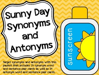 Sunny Day Synonyms and Antonyms