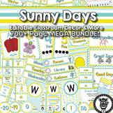 Sunny Days Classroom Theme