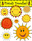 Sunny Days FREEBIE Clip Art by Dandy Doodles