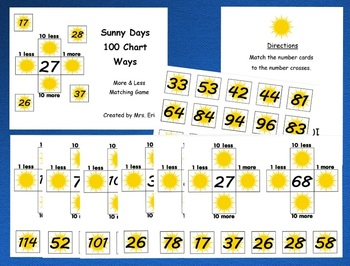 Sunny Days Hundred Chart Ways