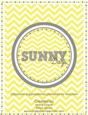 Sunny Days Pennant Banners for bulletin boards and classroom banners