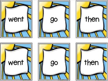 Sunny Days Sight Word Match:  LOW PREP Card Game