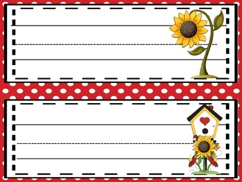 Sunny Flowers Name Plates