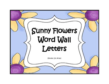 Sunny Flowers Word Wall Letters