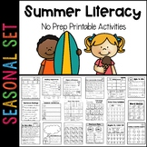 Summer Literacy Printables: 1st to 2nd