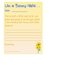 Sunny Note - Positive notes to send home