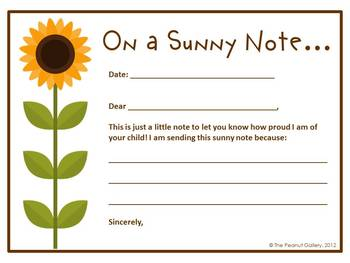 Massif image within printable positive notes home for parents