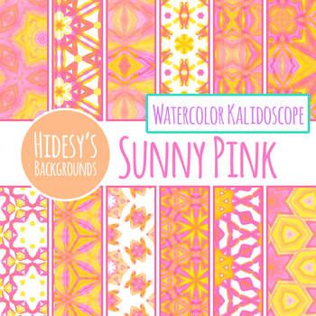 Sunny Pink Backgrounds / Digital Papers Clip Art Set for Commercial use