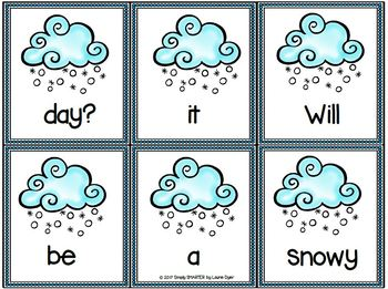 Sunny Scrambled Sentences:  LOW PREP Weather Themed Sentence Building Activity