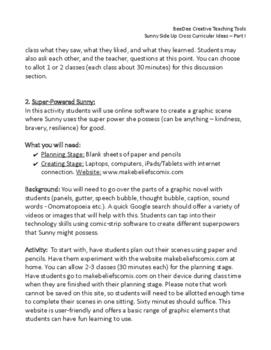 Sunny Side Up Graphic Novel Cross Curricular Ideas - Part I
