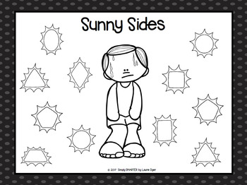 Sunny Sides:  NO PREP Flat Shape Roll and Cover Game