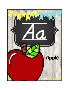 Sunny Skies Farmhouse Alphabet Picture Cards