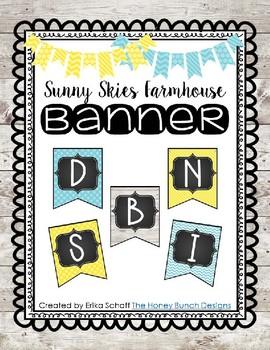 Sunny Skies Farmhouse Banner Editable