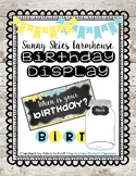 Sunny Skies Farmhouse Birthday Chart Editable