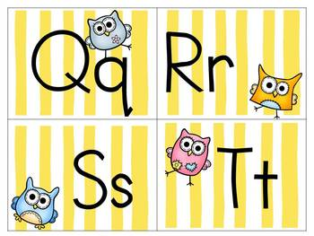 Sunny Stripes, Dots, and Adorable Owls Classroom Theme Pack