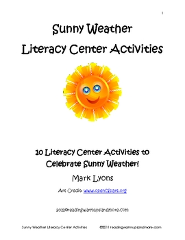 Sunny Weather Literacy Center Activities