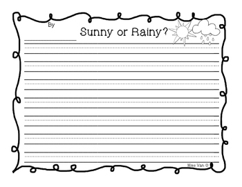Sunny or Rainy Weather Spring Opinion Writing