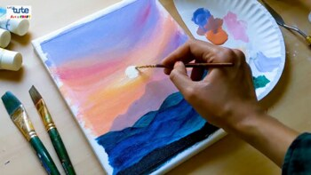 Sunrise Acrylic Painting For Beginners Ideas By Letstute