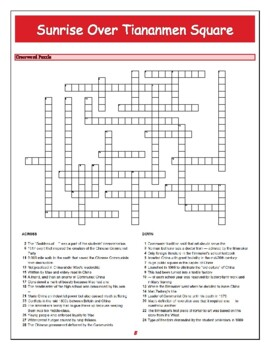 Sunrise Over Tiananmen Square Quiz, Worksheet & Puzzles