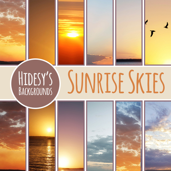 Sunrise Photos / Digital Backgrounds Clip Art Set for Commercial Use