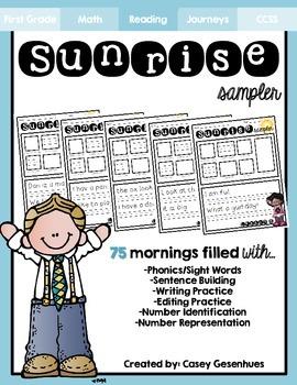 """""""Sunrise Sampler"""" Unit 1-3 (75 Mornings of Morning Work)"""