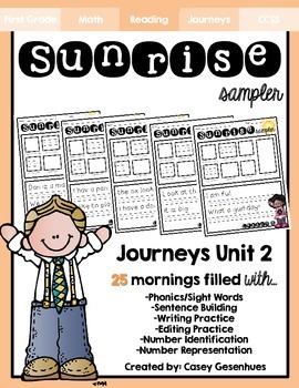 """""""Sunrise Sampler"""" Unit 2 (25 Mornings of Morning Work)"""
