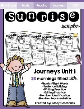 """Sunrise Sampler"" Unit 1 (25 Mornings of Morning Work)"