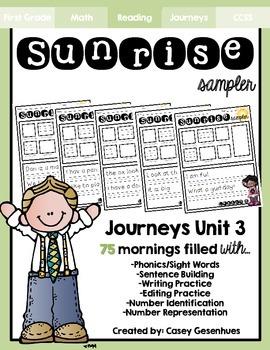 """""""Sunrise Sampler"""" Unit 3 (25 Mornings of Morning Work)"""