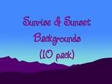Sunrise & Sunset Backgrounds (10 Pack)