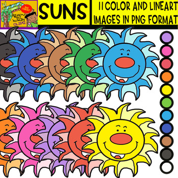 Suns - Cliparts Set - 11 Items