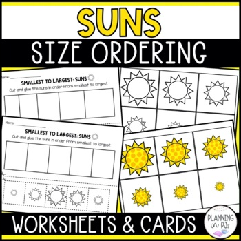 Suns Size Ordering (From Smallest to Largest)
