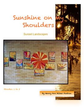 Sunset Landscape - Visual Art lesson - 1st - 5th Grade