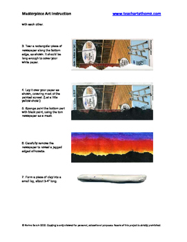 Sunset Panorama Printmaking Project