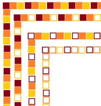 Sunset Themed Block Borders