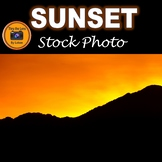 Sunset and Mountain Stock Photo #259