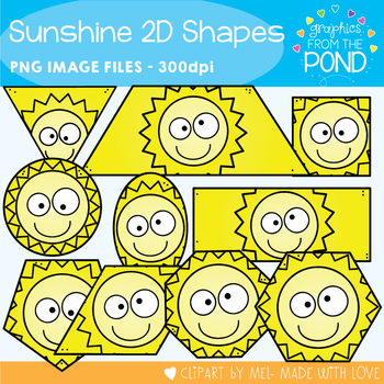 Sunshine 2D Shapes Clipart