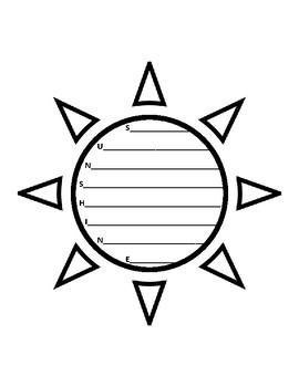 Sunshine Acrostic Sun Acrostic Poem Sun Poem Summer Poetry Writing Sunshine Poem